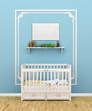 Classic children room with cradle. Royalty Free Stock Photo