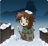 Classic Children's Stories - Little Match Girl stock illustration