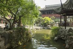 Classic Chinese architecture in Yu garden in Shanghai, China Royalty Free Stock Photos