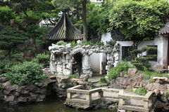Classic chinese green garden, south China Royalty Free Stock Photos