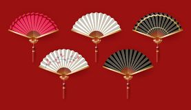 PrintClassic Chinese new year background, vector illustration. Classic Chinese new year background, vector illustration. Chinese fans isolated on white royalty free illustration