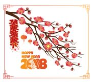 Classic Chinese new year blossom background Stock Image