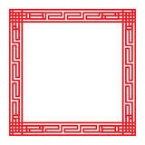 Classic Chinese red square frame Stock Image