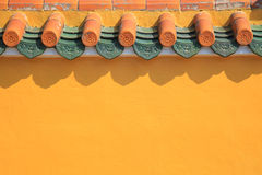 Classic Chinese Style Wall and Eaves Stock Photo