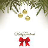 Classic  Christmas background with a bow. For Print or Web Royalty Free Stock Image