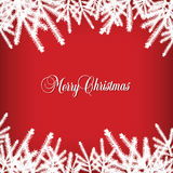 Classic  Christmas background with pine needles Royalty Free Stock Image