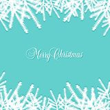 Classic  Christmas background with pine needles Royalty Free Stock Photos