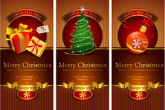 Classic christmas banners Royalty Free Stock Photography
