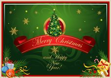 Classic Christmas card Stock Images