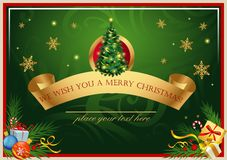 Classic Christmas card Royalty Free Stock Photo