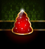 Classic Christmas Greetings background Stock Photography