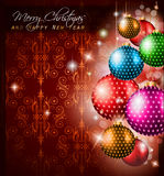 Classic Christmas Greetings background Royalty Free Stock Photos