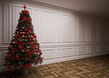 Classic  Christmas interior Royalty Free Stock Photography