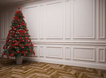 Classic  Christmas interior Stock Images