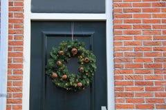 Classic christmas wreath Stock Image