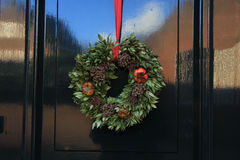 Classic christmas wreath Stock Image