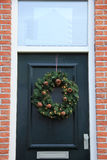 Classic christmas wreath Royalty Free Stock Image