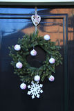 Classic christmas wreath Royalty Free Stock Photography