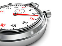 Classic chrom sports stopwatch background Royalty Free Stock Images