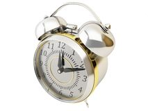 Classic chrome alarm clock Stock Photos