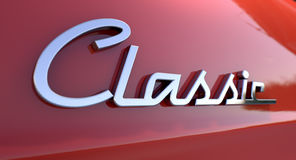 Classic Chrome Car Emblem Royalty Free Stock Photography