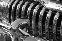 Classic chrome grillwork Stock Images