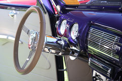 Classic Chrome Steering Wheel Stock Images