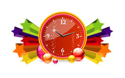 Classic chronometer time sign red color Stock Photo