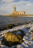 Classic church. Normanton church is struck by a warm winter light stock photos