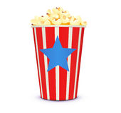 Classic cinema-style popcorn Royalty Free Stock Photo