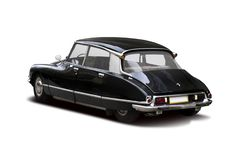 Classic Citroen DS back view isolated on white background royalty free stock photography