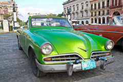 Classic citroen  in Havana.Cuba. Stock Photography