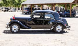 Classic Citroen Traction Avant parked in the province of Zamora, Spain. royalty free stock photos
