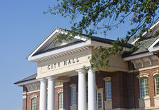 Classic City Hall with Columns Royalty Free Stock Image