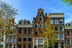 Classic city houses in Amsterdam, street view Stock Image