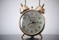 Classic clock. A well rounded and perfectly working old fashioned retro style clock Stock Images