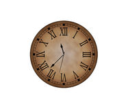 Classic clock. Classic old clock on a white background Royalty Free Stock Photography