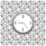 Classic clock on the abstract wall background Royalty Free Stock Image