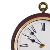 Classic clock face. With roman numerals, quarter view Stock Images