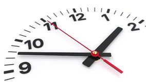 Classic clock face detail with seconds hand moving stock video footage