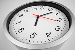 Classic clock macro shot by wide angle lens Stock Photography