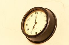Classic clock with moving pointer royalty free stock image