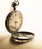 Classic clock open cover  on sepia tone Stock Image