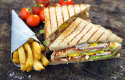 Classic Club Sandwich Royalty Free Stock Photography
