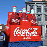 Classic Coca Cola Bottles in Disney World Royalty Free Stock Photography
