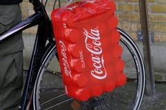 CLASSIC COCA COLA CANS. Copenhagen /Denmark - 06 October  2017.    Classic coca cola cans.   Photo.Francis Dean/Dean Pictures Stock Photo