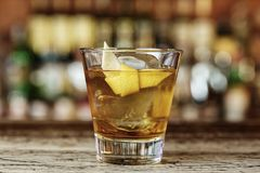 Classic cocktail Sazerac Royalty Free Stock Images