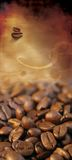 Classic coffee list. Front page background for Coffee list with coffee beans (for logo and text Stock Photo