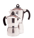 Classic coffee maker on white background Royalty Free Stock Photo