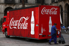 Classic coke truck Royalty Free Stock Image